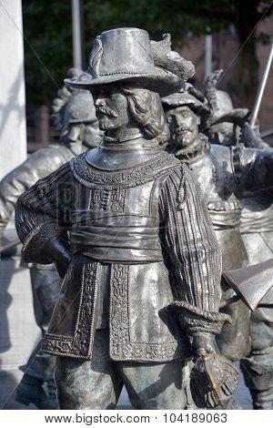 Details of Rembrandt monument