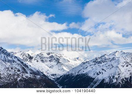 Mountains At Ski Resort Solden