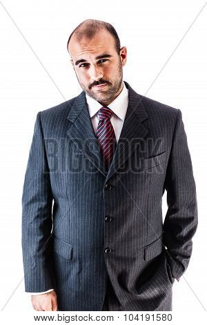 Mustache Businessman
