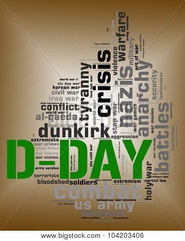 D Day Means Wordclouds Warfare And Words