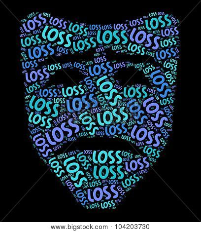 Loss Word Shows Broken Hearted And Bereavement