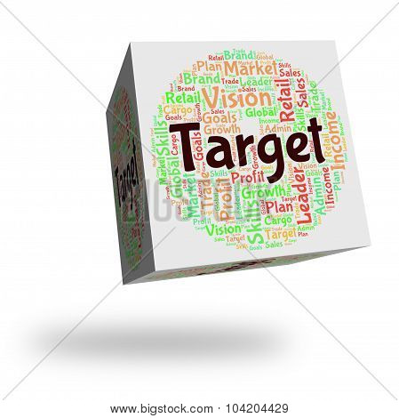 Target Word Showing Desired Result And Targetting poster