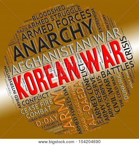 Korean War Shows Pusan Perimeter And Battle