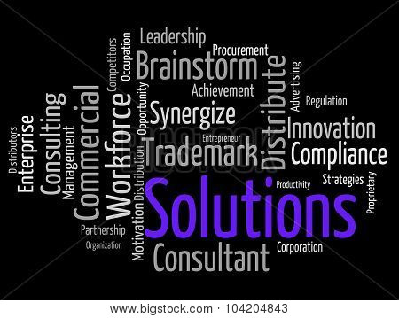 Solutions Word Indicating Solve Solved And Words poster