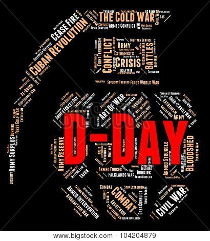 D Day Represents Invasion Wordcloud And Word