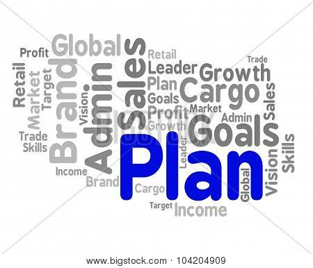 Plan Word Means Planning Schedule And Project