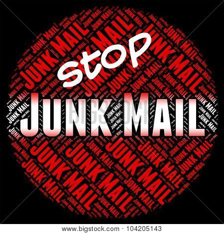 Stop Junk Mail Represents Warning Sign And Control