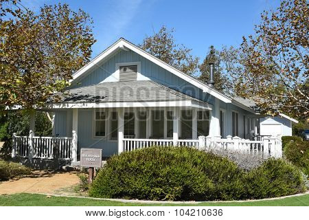 IRVINE, CA - OCTOBER 7, 2015: Sea and Sage House. One of three restored historic homes that are part of the Irvine Ranch Water District's, San Joaquin Marsh Campus.