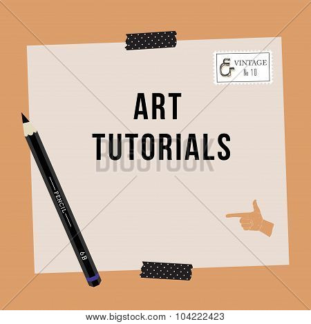 Flat design concepts for art courses, exhibitions , schools of painting and calligraphy. Web banners