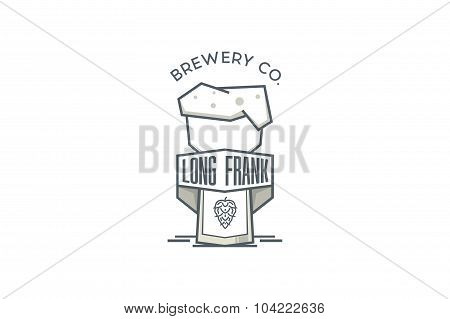 Beer logo and sign. Stock vector.