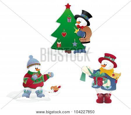 Christmas Snowman's