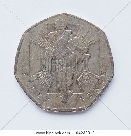 Uk 50 Pence Coin