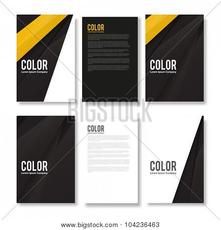 Set of Minimal Modern Abstract Flyers - EPS10 Brochure Design Templates