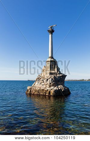 Monument To Scuttled Russian Ships To Obstruct Entrance To Sevastopol Bay.