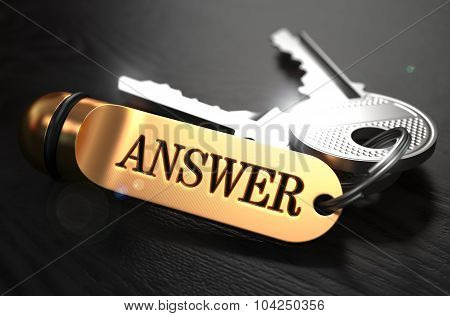 Keys with Word Answer on Golden Label.