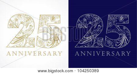 25 anniversary vintage logo.