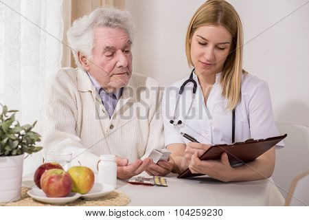 Retired Man On Private Consultation