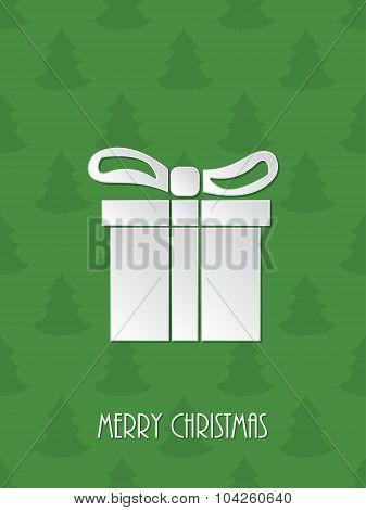 Christmas Greeting With White Giftbox