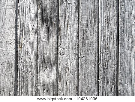 Old Silver Painted Woodden Wall