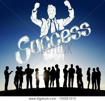 Success Achievement Winning Gain Profit Concept poster