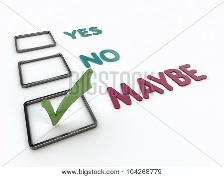 Yes Or No Or Maybe Checklist