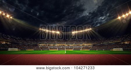 Night stadium arena football field