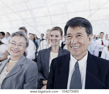 Business People Audience Conference Meeting Concept