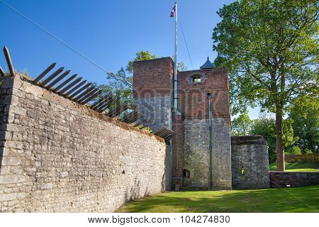 ROCHESTER, UK - MAY 16, 2015:  Upnor Castle is an Elizabethan artillery fort located on the west ban