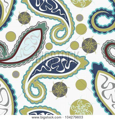Seamless Paisley Background. Vector Illustration
