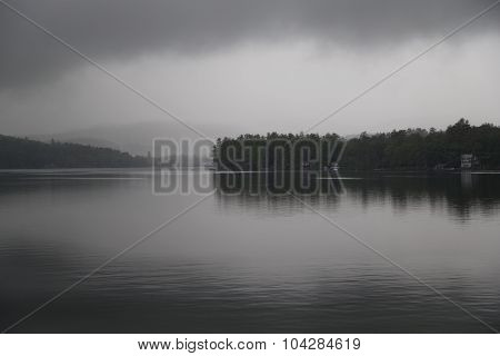 Cloudy Morning On The Lake
