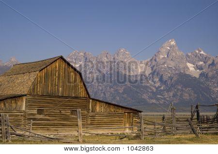 The Mormon Barn Of The Tetons