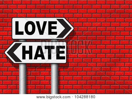 love hate emotions and connections intense feelings of affection like or dislike  poster