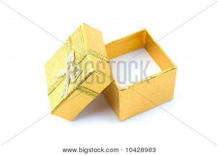 Open Golden Gift Box