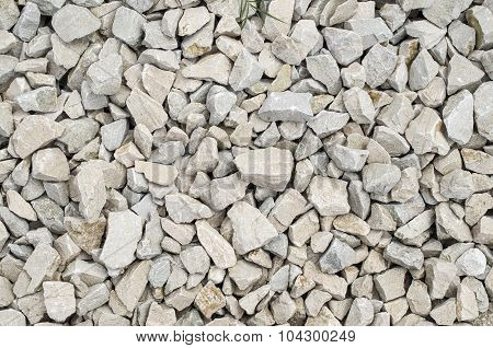 White Limestone Gravel Closeup