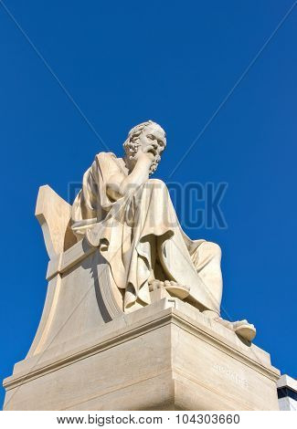 Socrates, Academy of Athens, Greece