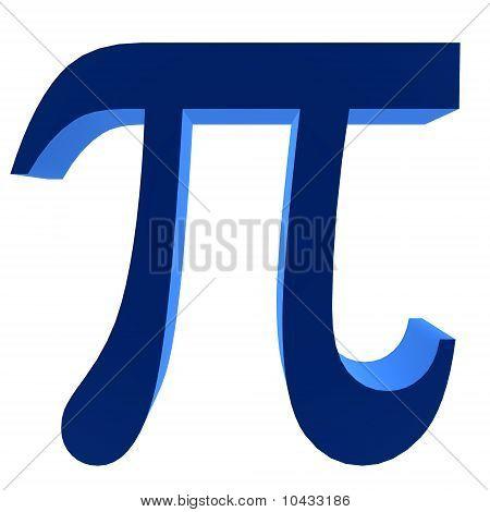 3D Pi Symbol