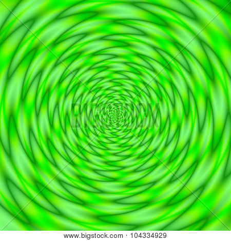 Significantly Green Psycho Round Pattern Texture