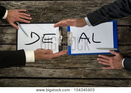 Business Deal Or Transaction Concept