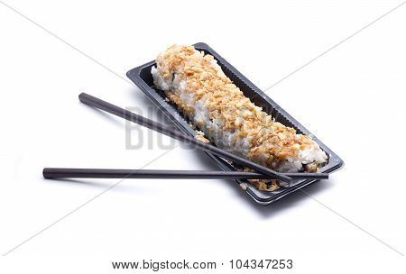 rice stuffing roll typical Asian food spicy california call