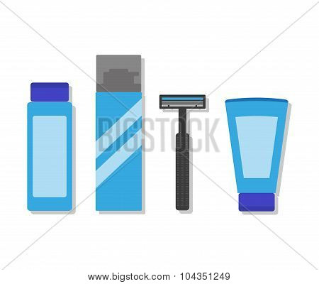 Shaving Products And Shaver.