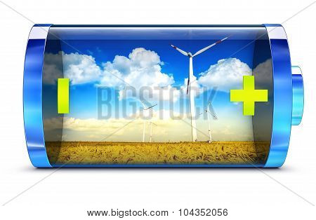 3D rendering of a green energy concept poster
