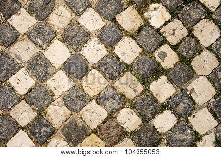 Cobblestone Checkerboard