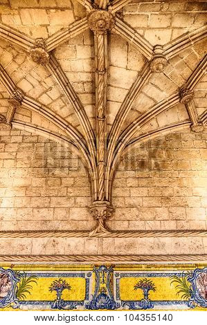 Stone Beams With Tiles
