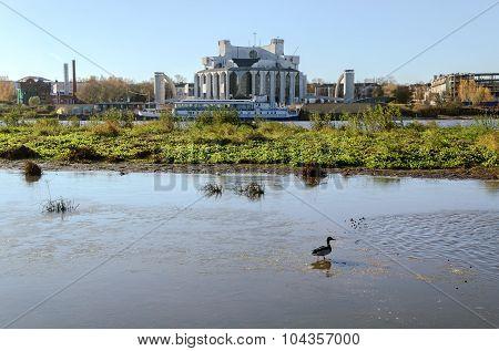 VELIKY NOVGOROD, RUSSIA - OCTOBER 18, 2014. Novgorod Drama Theatre named after F.M. Dostoevsky in Veliky Novgorod Russia