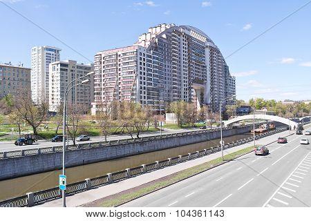 Moscow. Yauza River