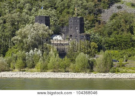 Remagen - Towers Of The Remagen Bridge At The Opposite Riverbank