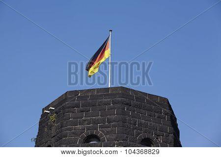 Remagen - The Remagen Bridge With German Flag