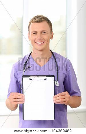 Professional vet involved in work