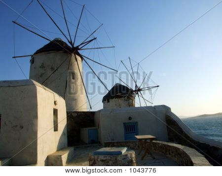 Greek Isles Windmills
