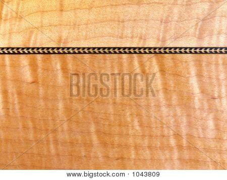 Tiger Maple And Herringbone Closeup